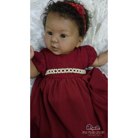 Bebê Reborn Negra Com Naninha De Brinde