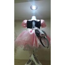 Vestido Princesa Disfraz Mimi Rosa Y Zapatos Envio Grati Dhl