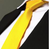 Kit 22 Gravata Amarela Ouro - Casamento - Padrinhos -