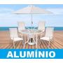 Mesa Redonda 4 Cadeiras + Ombrelone - Piscina Área Externa