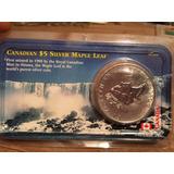 1 Moneda Onza Plata 5 Dolares Canada Año 2000 Elizabeth Ll