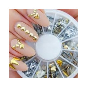 6 Carrusel Con Estoperoles Diferentes Decoracion Uñas Gelish