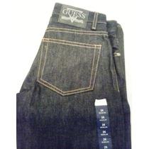 Pantalones Jeans Guess Azul Oscuro Bota Recta