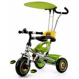 Triciclo Infantil Cromado 3 Ruedas 4 En1 Novedad