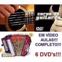 Curso De Acordeon + Guitarra + Violão! Aulas Em 6 Dvds!