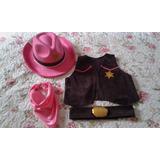 Sheriff Callie Chaleco Y Sombrero Y Pañuelo Disfraz