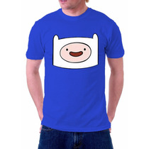 Camisa Camiseta Finn A Hora Da Aventura Pronta Entrega