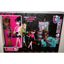 Monster High Exclusivo Clawdeen Wolf Y Draculaura Ataúd Frij