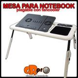 Mesa Plegable Para Notebook Y Netbook Con Fan Cooler