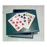 Caja Porta Cartas De Poker Españolas Artesanal