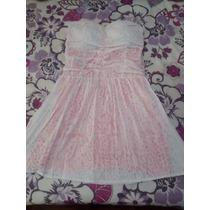 Vestido De Lese Branco Com Rosa
