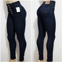 Calça Jeans Feminina Cintura Alta Hot Pants Jezzian Original