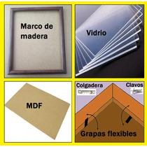 10 Marcos De Madera,(marco,vidrio,mdf,caiman,grapas), 7x9cm.