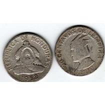 Moneda De Honduras De Plata Año 1952 De 20 Centavos