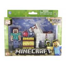 Minecraft Steve Com Cavalo Multikids Br476