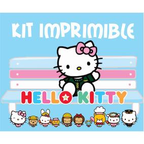 Kit Imprimible Editable Hello Kitty Invitaciones Etiquetas