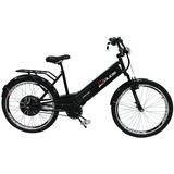 Bicicleta Elétrica Confort 800w 48v 12ah Preta