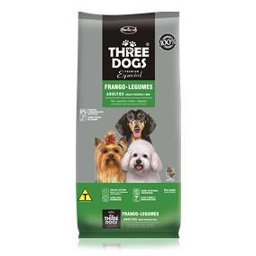 Ração Three Dogs Cães Adultos Raças Pequenas E Mini 15 Kg