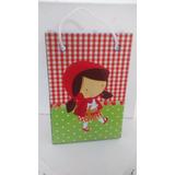 Kit Com 10 Sacolinhas Personalizadas Chapeuzinho Vermelho