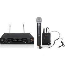 Microfone Sem Fio Headset E Mao Bivolt Uhf Kadosh Kdsw482c