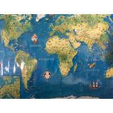 Mapa Planisferio , Ideal Para Chicos ( Laminina 70 X 50)