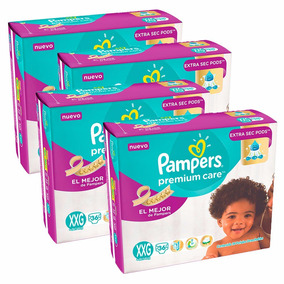 Pañales Pampers Premium Care Xxg Combo 4 X 36 Unidades