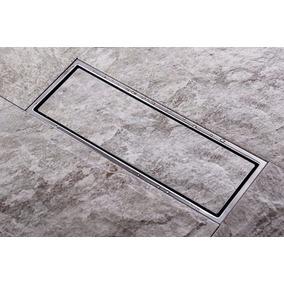 Ralo Invisível Linear Aço Inox Banheiro Cozinha Pub 30 X 11