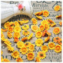 200 Mini Florzinhas Amarelas - Pacotes Flor Artificial