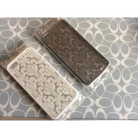 Carcasa Para Iphone 5/5s/se Grabado Tipo Damasco Negro Disp