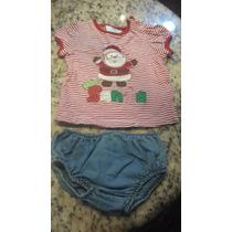 Franela Navidad Niña Bebe Marca Epk Talla 18m Pantaleta 12m