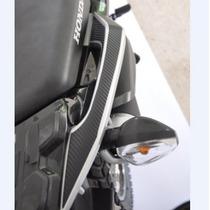 Protetor Adesivo Carbono Alça Garupa Rabe Moto Honda Xre 190