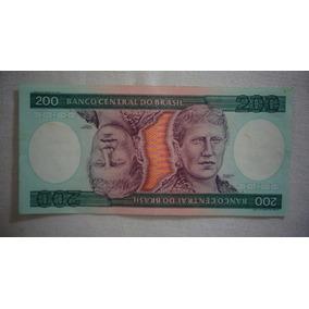 Cédula Dinheiro 200 Cruzeiros Princesa Isabel Moeda Antiga