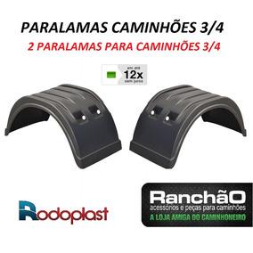 Par Paralama Caminhão 3/4 Plataforma Bau Implemento