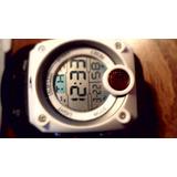 Reloj Stone,digital,malla Caucho Negro P/dama,wr.-