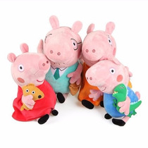 Peppa Pig Família 4 Pelúcias Musicais/ Festas / Decoração