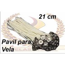 100 Pavil Para Velas 7 Dias Parafinado 21cm Atacado.
