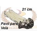 500 Pavil Para Velas 7 Dias Parafinado 21cm Parafina Pura .