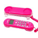 Aparelho De Telefone Rosa Tela Lcd Kx-t0106 Interfone