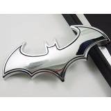 Logo Emblema Batman Con Relieve 3d Metal Auto Moto Plateado