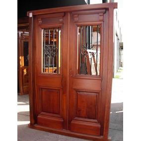 Puerta colonial aberturas puertas exteriores madera de for Puertas antiguas dobles