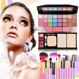 Kit Maquiagem Completo Maleta + Pincéis De Luxo Promoção