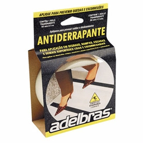 Fita Adesiva Anti-derrapante Pvc 50mmx5mts Branca Adelbras