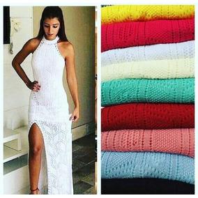 Vestido Longo De Tricot / Trico Croche Renda Vários Modelos