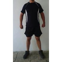 Conjunto Franela Y Short Tipoadidas Cuellomao Microperforada