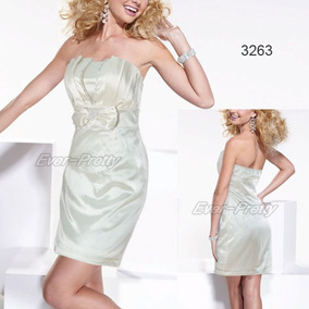 Vestido Strapless De Saten 3xl