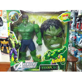 Boneco Hulk Grande Com Máscara 32cm Altura