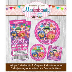 Invitacion Cumpleaños Team Umizoomi Niña Kit Imprimelo Tú!!