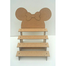 Porta Doces Escada Mdf Mickey E Minnie
