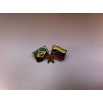 Pins Da Bandeira Do Brasil X Venezuela