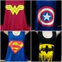 Kit 4 Camisetas Regata Super Heróis Feminina Fantasia Carnav